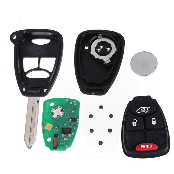 Uncut Remote Keyless Entry Combo Transmitter Fob for Chrysler Jeep
