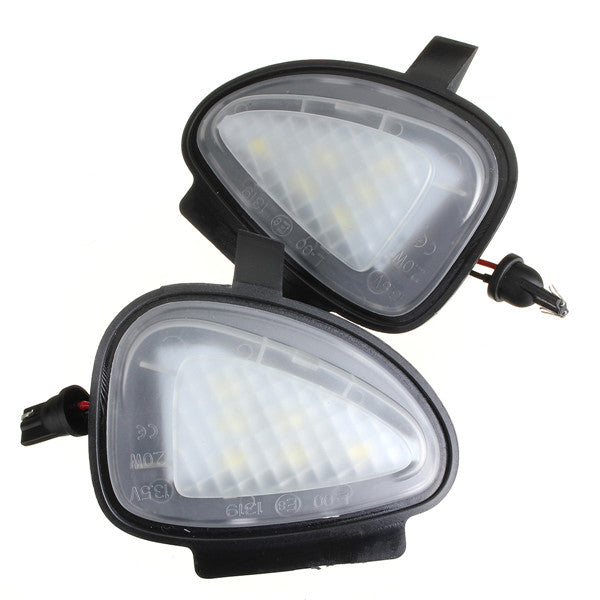 White Under Side Mirror Puddle 6 LED Light Lamp For VW Golf GTi MK6