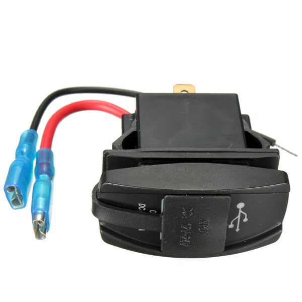 Waterproof DC12-24V Motorcycle Dual USB Power Charger Socket