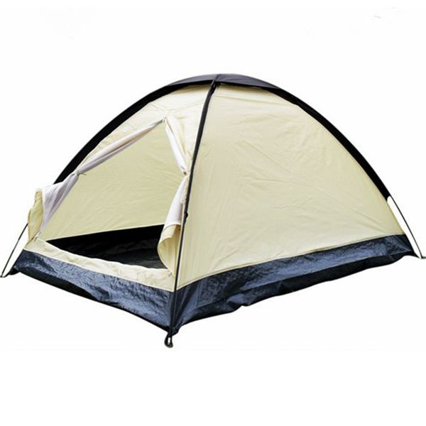 Outdoor 2 Persons Camping Tent Waterproof Single Layer UV Sunshade Shelter Canopy