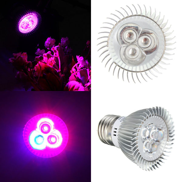 6W E27 Red + Blue LED Plant Grow Light Lamp Flower Hydroponic Globe Bulb 85-265V