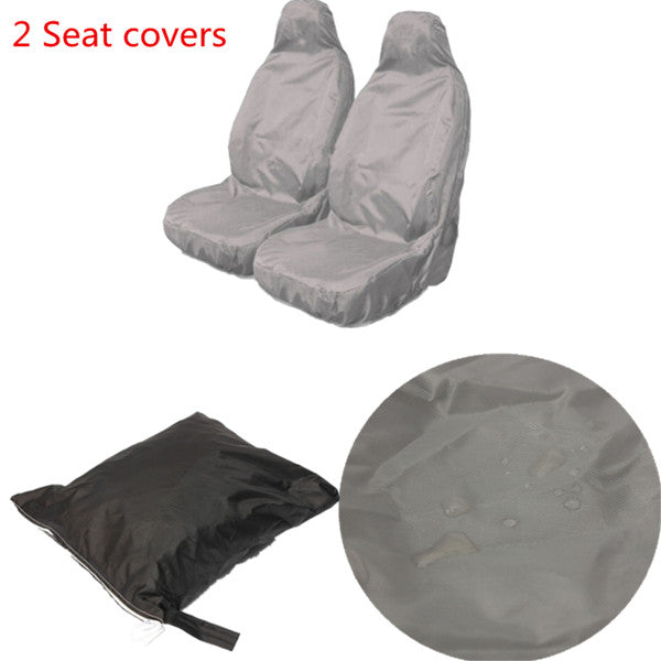 Universal Car Van Waterproof Nylon Heavy Duty Front Seat Covers Protectors
