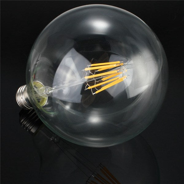 G125 8W E27 Edison Filament Warm White Globe COB LED Light Bulb 220-240V