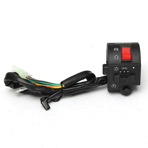 7/8 Inch Motorcycle Handlebar Horn Turn Signal Electric Switch 12V DC For Suzuki
