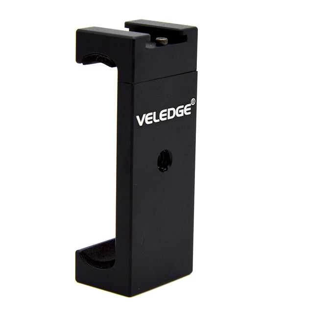 VELEDGE VD-30 Phone Tripod Mount Adapter Bracket Holder Clip Clamp with Cold Shoe for Smartphones