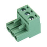 20pcs 2 EDG 5.08mm Pitch 3Pin Plug-in Screw PCB Terminal Block Connector Right Angle