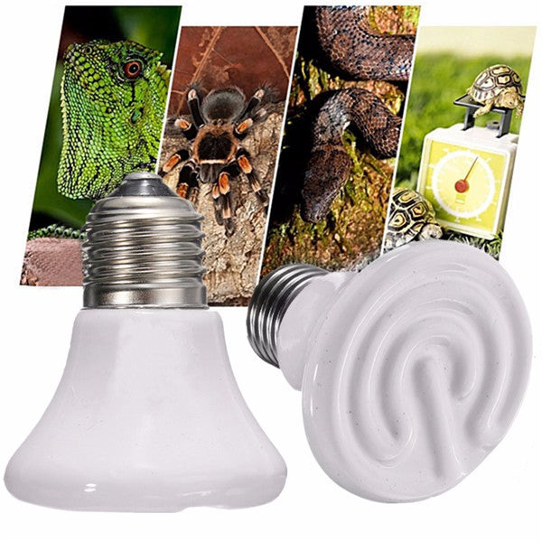 110V Diameter 60mm Pet Ceramic Emitter Heated Appliances Reptile 25W/50W/75W/100W