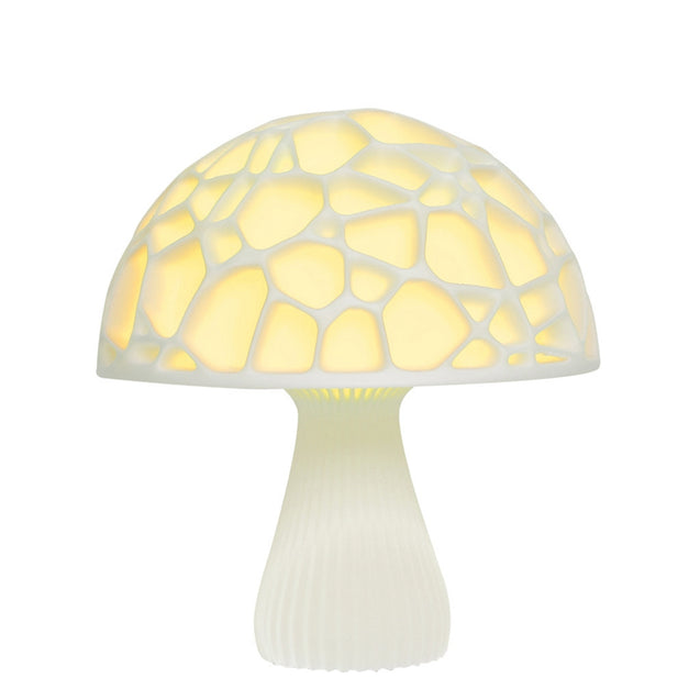20cm 3D Mushroom Night Light Touch Control 2 Colors USB Rechargeable Table Lamp for Home Decoration