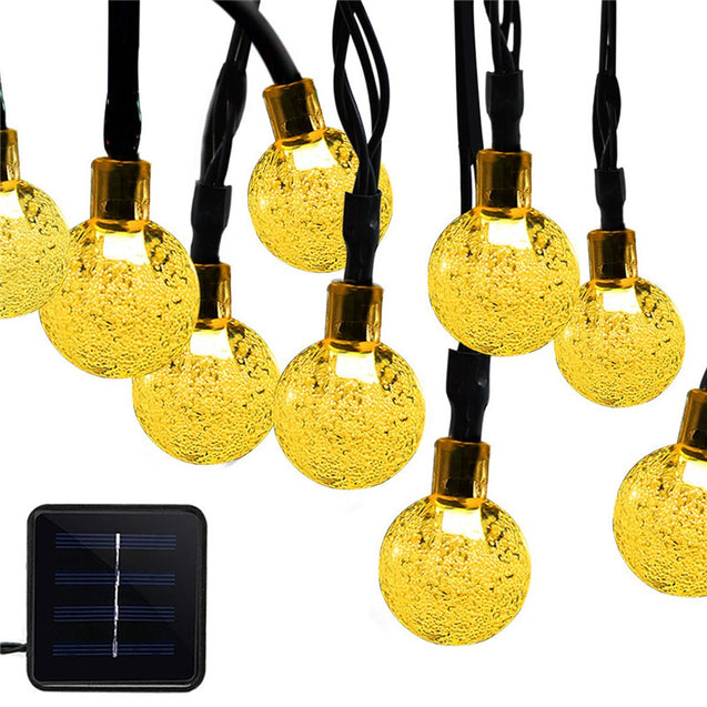 Solar Powered 6M Warm White 30LEDs Outdoor Global Fairy String Light for Garden Path Yard