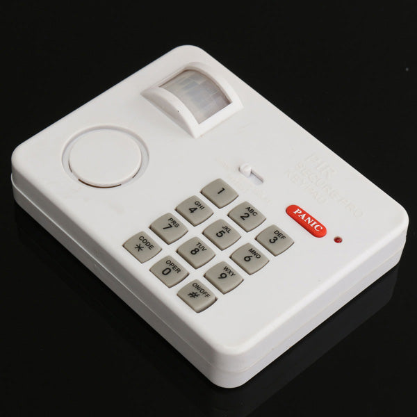PIR Wireless Motion Sensor Alarm with Security Keypad for Home Door Garage Shed