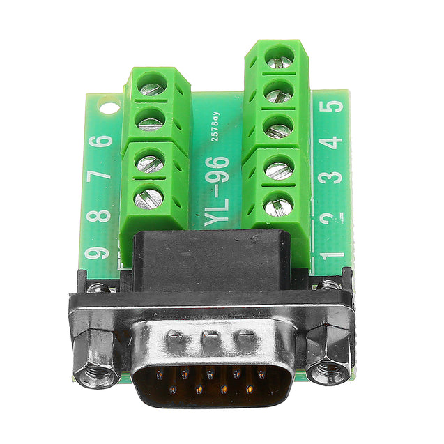 3pcs Male Head RS232 Turn Terminal Serial Port Adapter DB9 Terminal Connector