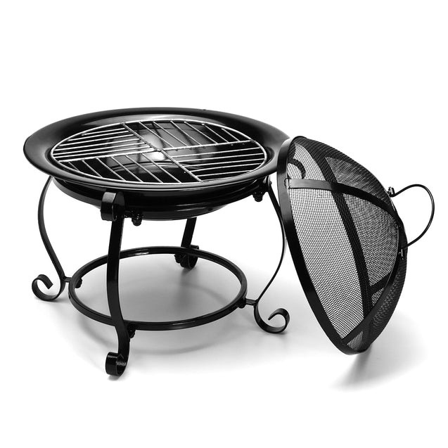 Outdoor BBQ Cooking Stove Portable Picnic Iron Fireplace Heater Garden Party Grill Barbecue Rack