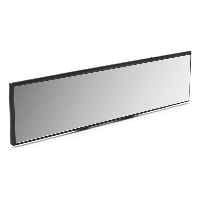 Universal 30CM Wide Flat Interior Clip On Rear View Clear Glass Mirror