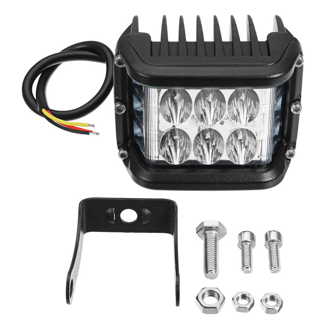 4Inch LED Work Light Bar Three Sides Glow Flashing Spotlight 20W 9000LM for Off Road Truck ATV