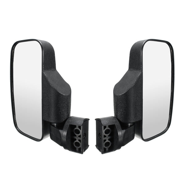 Rear Reversing Side View Mirrors Set Rectangle High Impact Break-Away For UTV/ATV Off Road