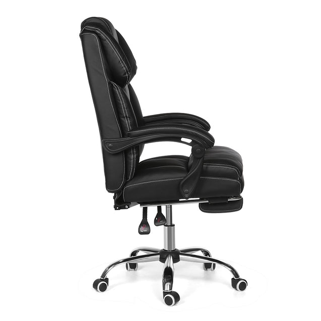 BlitzWolf BW-OC1 Office Chair Ergonomic Design with 150Reclining Wide Seat Retractable Footrest PU Material  Lumbar Pillow