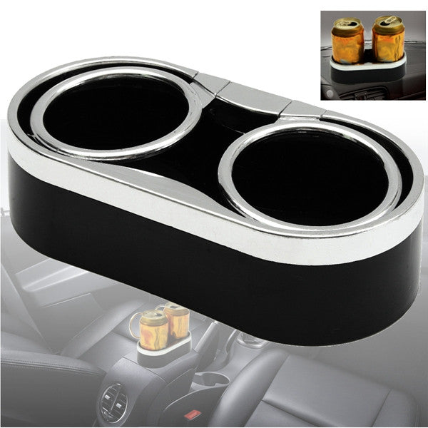 Double Hole Car Drink Bottle Holder Beverage Cup Mount Stand Plastic