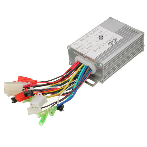36V/48V 350W Electrocar Brushless Motor Controller for Electric Scooters Bikes
