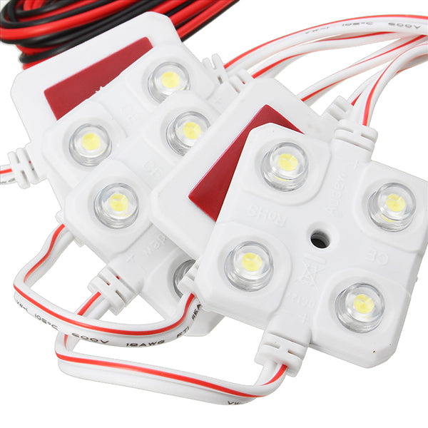 10PCS 12V 4LED Car Interior Dome Reading Lights Kit for LWB Van Lorries Sprinter Ducato Transit VW