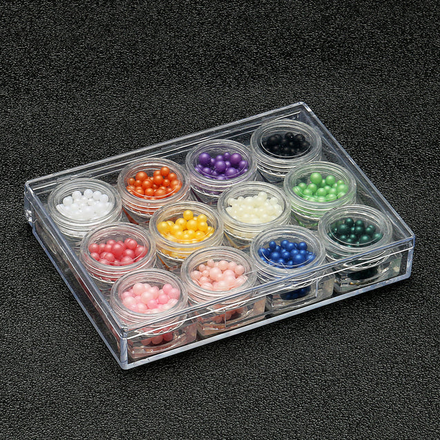 12 Colors Ball Caviar Nail Art Beads Gel Polish Manicure Pedicure DIY 3D Tips Decoration Tool