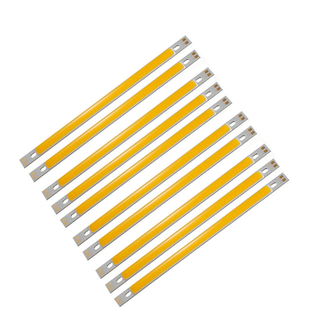 10pcs LUSTREON Warm White High Power 10W COB LED Chip Light DC12-14V for DIY 200x10MM Lamp