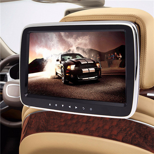 9 Inch Car MP5 Player Digital LCD Screen Touch Button Head Rest Monitor with Remote