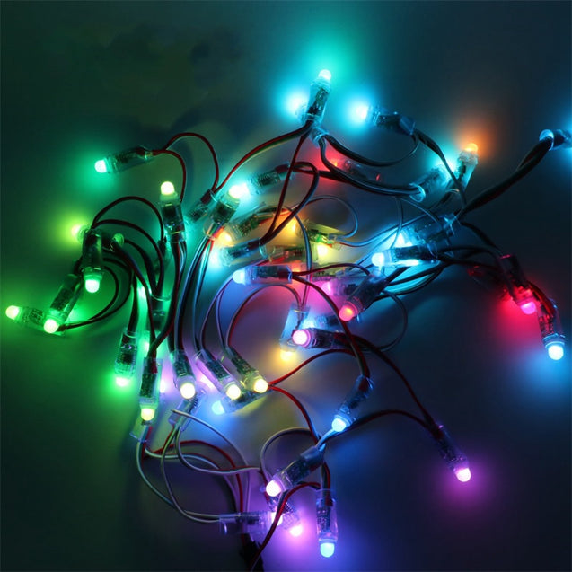 50PCS WS2811 Full Color RGB Waterproof LED Module Strip Light + 14 Keys Remote Control DC5V