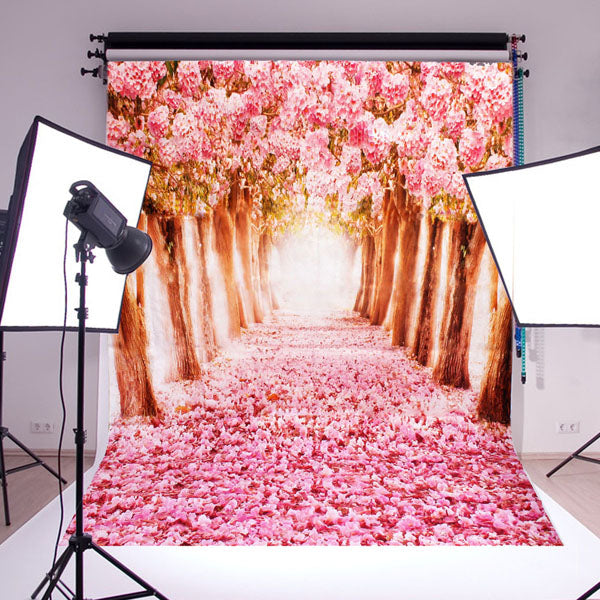 2x1.5m Silk Beautiful Flower Street Studio Silk Photography Backdrop Photo Background