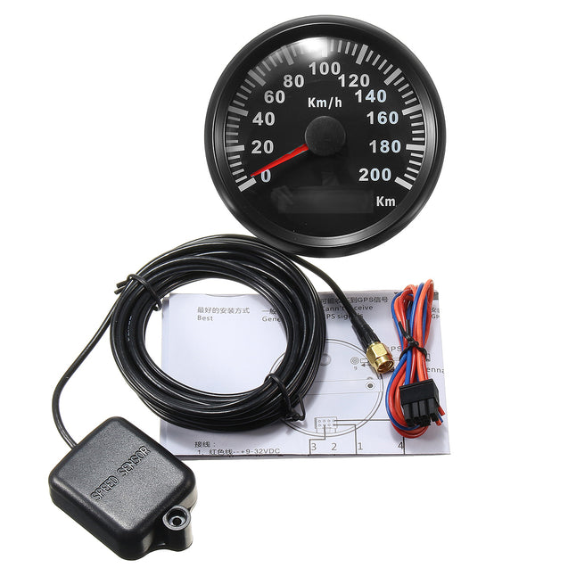 85mm 200 KM/H Stainless GPS Speedometer Waterproof Digital Gauges Car Motorcucle