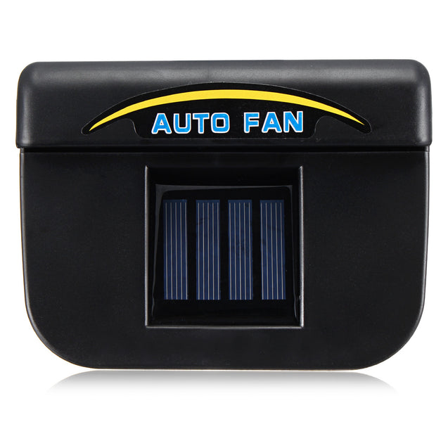 Solar Powered Car Window Wind Shield Auto Air Vent Cooling Fan Radiator System