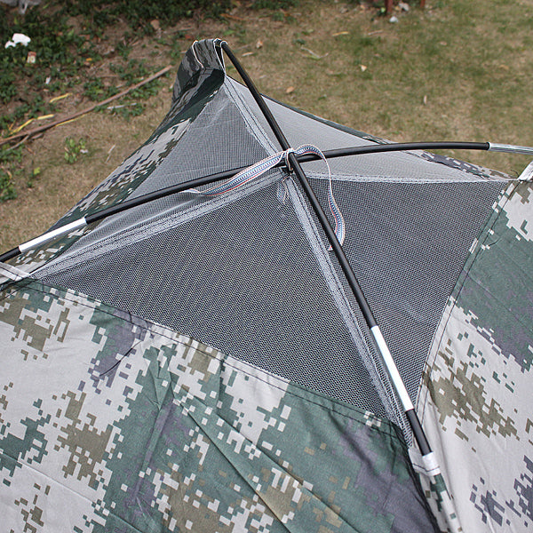 Outdoor 4 Persons Camping Tent Folding Double Layer UV Beach Sunshade Canopy