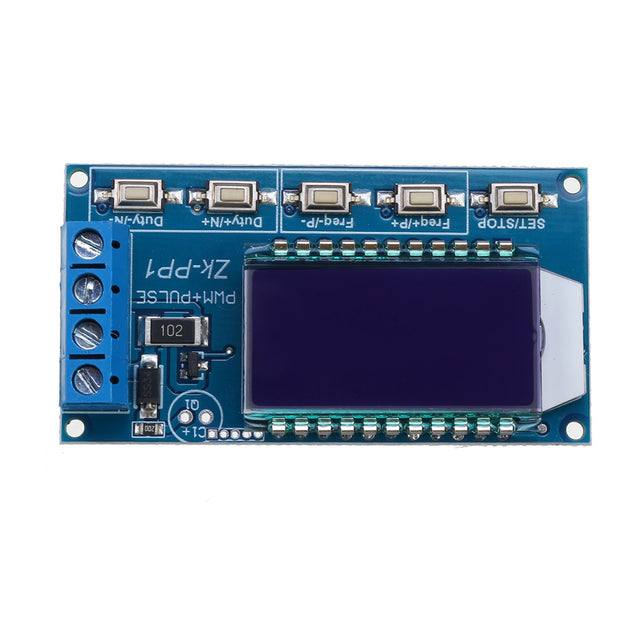 Dual Two Mode PWM Square Wave Rectangular Wave Signal Generator Control DC Stepper Motor Driver Board Adjustable Pulse Module