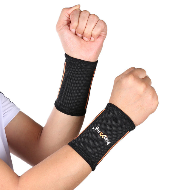 Mumian 1 Pair A36 Black Wrist Support Brace Brand Wristband Gym Wrestle Professional Sports Fitness Protection Gear