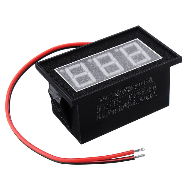 5pcs Red DC2.5-30V LCD Display Digital Voltage Meter Waterproof Dustproof 0.56 Inch LED Digital Tube