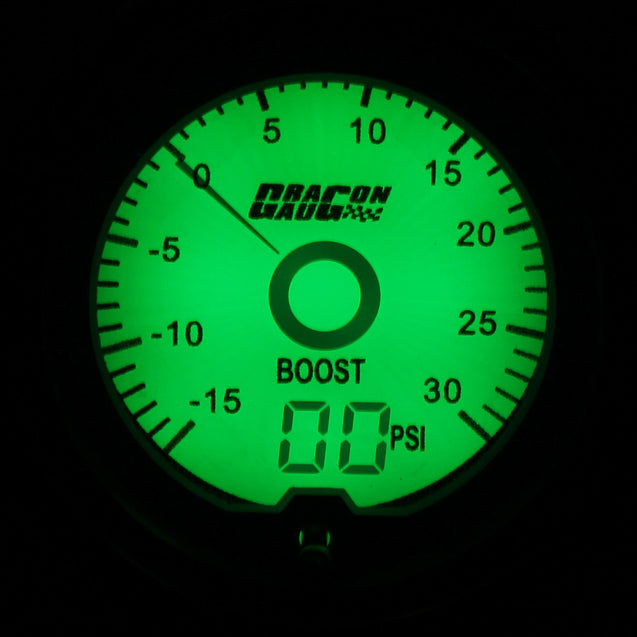 Universal 2 Inch 52mm PSI Turbo Boost Gauge Digital LED Light Display Car Meter
