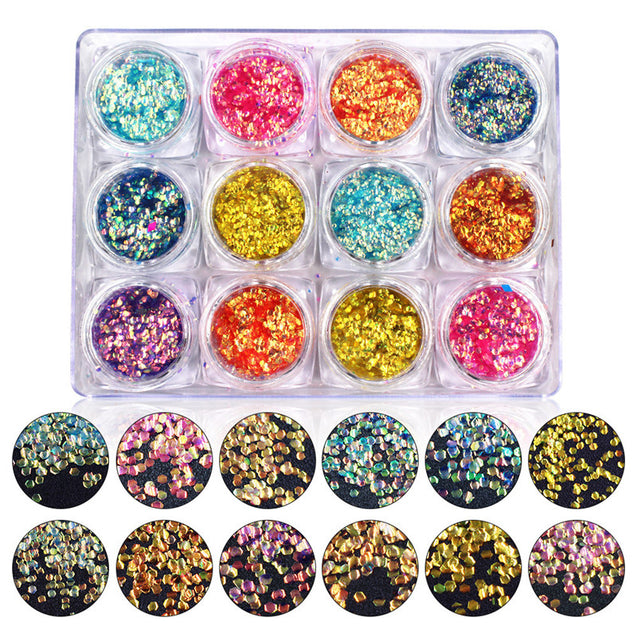 Shining Colorful Scales Nail Art Decoration Sequins Glitter Tips Manicure Accessories