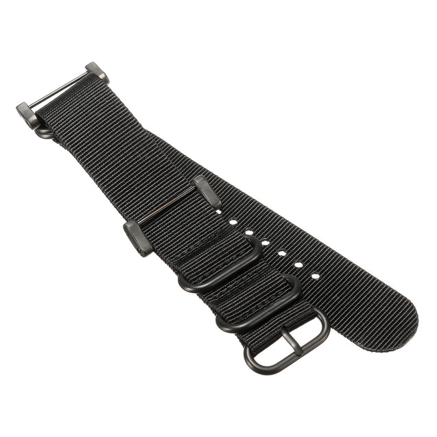 Nylon Climbing Watch Band Wristband Black 5-Ring Lugs Adapter For Suunto Core