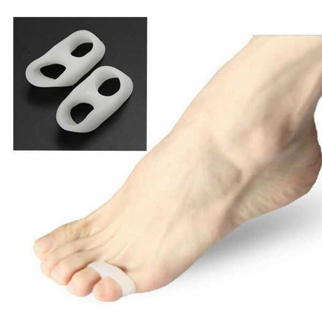 2Pcs Soft Silicone Gel Toe Separators Straightener Bunion Protector