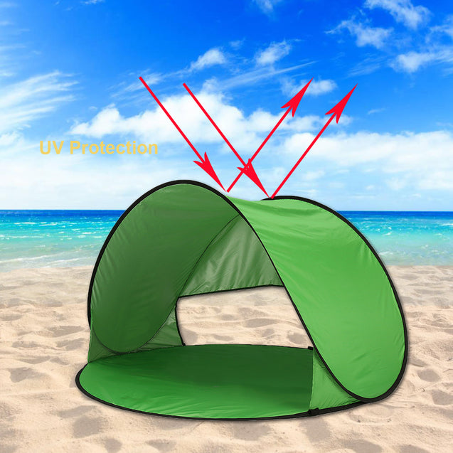 Outdoor 1-2 Person Camping Tent Automatic Opening UV Beach Sunshade Canopy