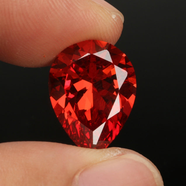 12x16mm Orange Red Pear Heart Gemstones Cut Dianond Drop DIY Making Jewelry