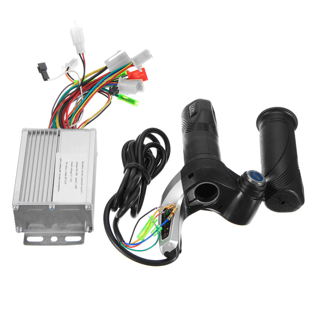 36V 350W Motor Brushless Controller+Throttle Twist Grip For Electric Scooter Sctoote
