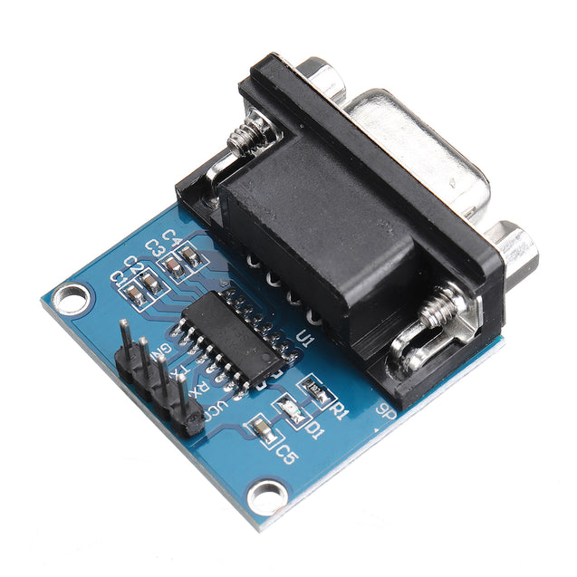 5pcs RS232 to TTL Serial Port Converter Module DB9 Connector MAX3232 Serial Module