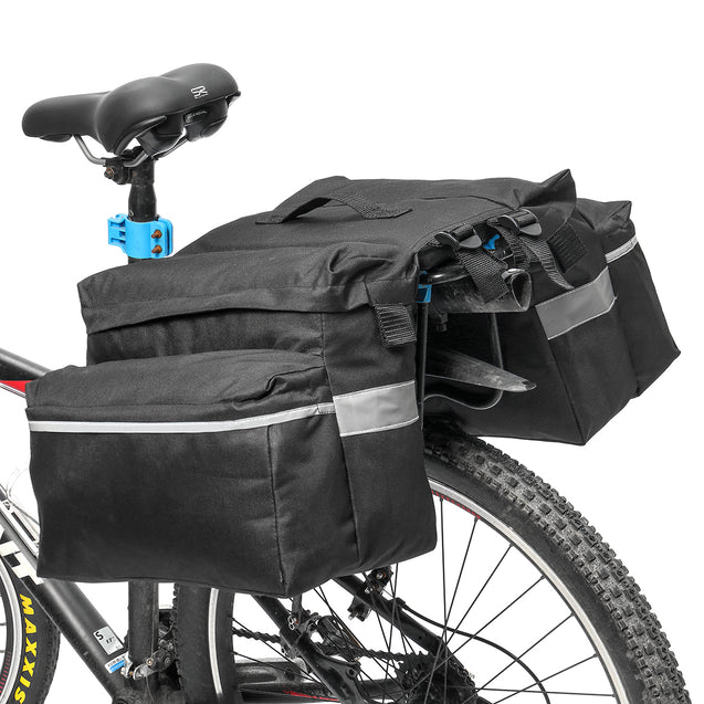 BIKIGHT 25L 600D Fabric Waterproof Bicycle Rear Rack Seat Trunk Tail Storage Bag