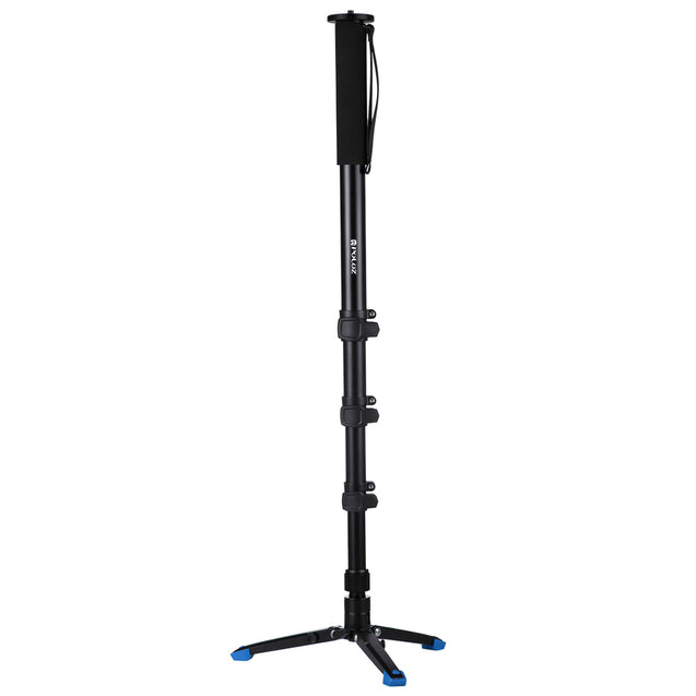 PULUZ PU3015 Four-Section Aluminum-magnesium Alloy Self-Standing Monopod with Support Base Bracket
