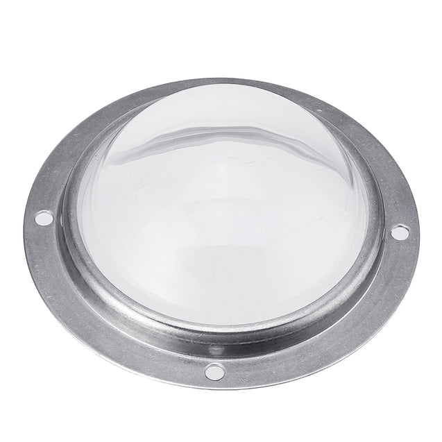 78MM Waterproof 120 Degree Optical Glass Lens + Aluminum Ring For 20W-100W High Power LED Chip