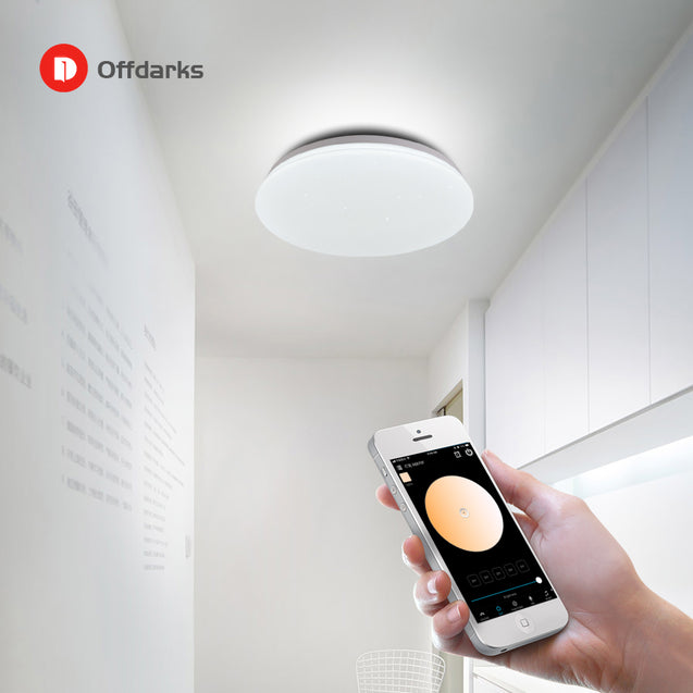 OFFDARKS Modern LED Smart Ceiling Light LXD-WF-NXY48 48W WiFi / APP Smart Control RGB Dimming Bedroom Kitchen Ceiling Lamp 220V/AC