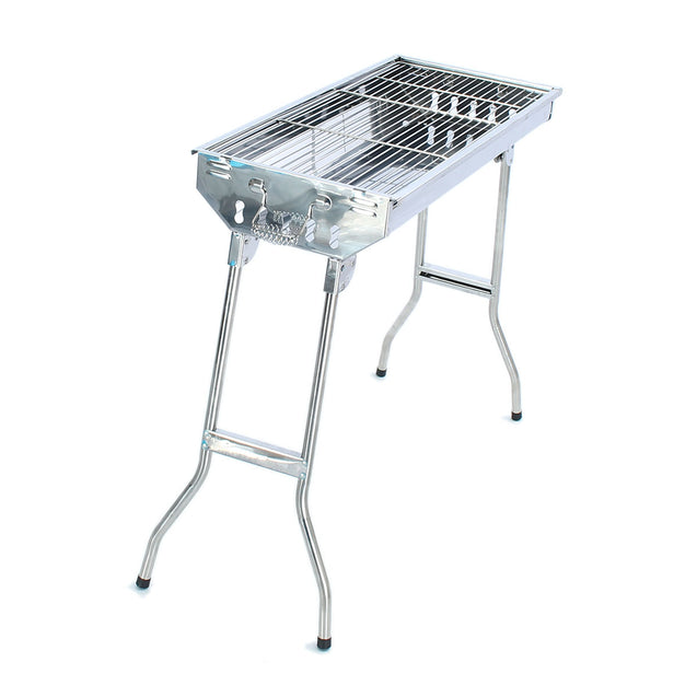 Camping Picnic Folding BBQ Grill Barbecue Charcoal Stainless Steel Stand