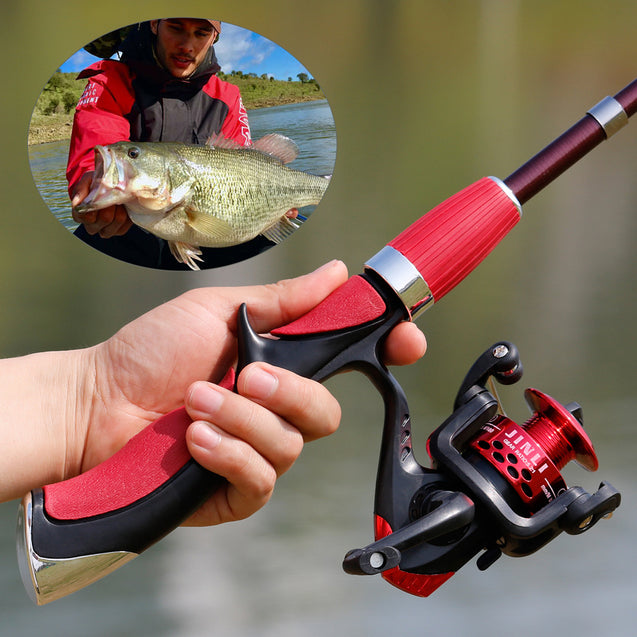Carbon Fiber Rod Superhard Boat Ice Fly Lure Fishing Rod Reel Combo Fishing Tackle Set