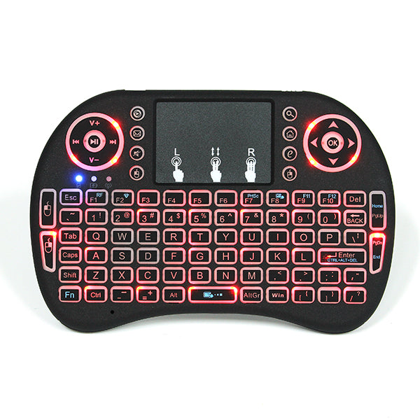 I8 Wireless Three Color Backlit 2.4GHz Touchpad Keyboard Air Mouse For TV Box MINI PC