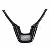 Black Carbon Fiber Pattern Car Interior Steering Wheel Cover Trim Sticker for Honda Accord 2018